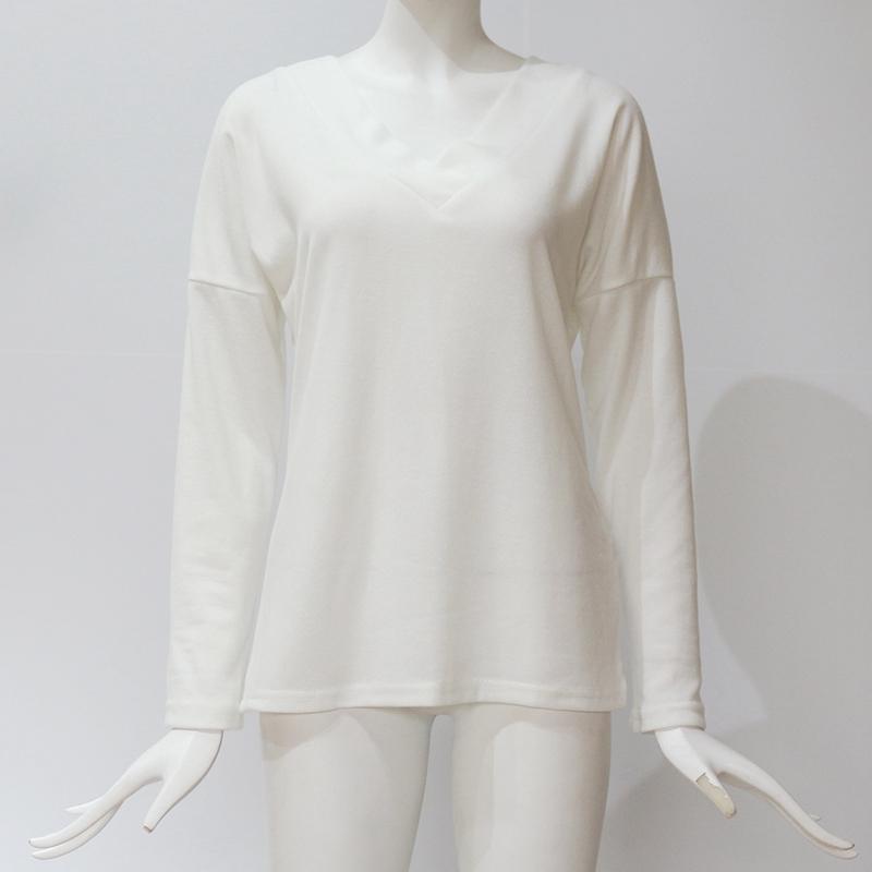 Femmes-Automne-Mode-Col-En-V-a-Manches-Longues-Chandail-a-Tricot-Dames-Deco-S6W5 miniature 11