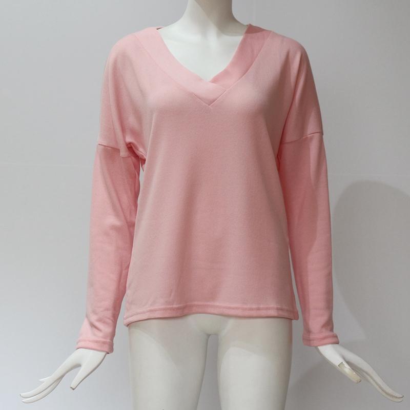 Femmes-Automne-Mode-Col-En-V-a-Manches-Longues-Chandail-a-Tricot-Dames-Deco-S6W5 miniature 34