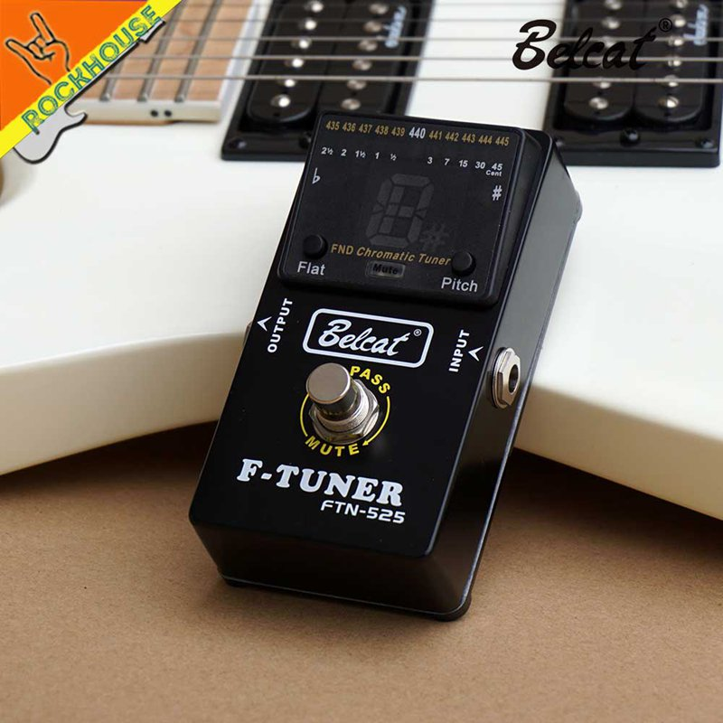 belcat guitar pedal tuner bass tuner effects pedal ftn 525 chromatic pedal w2x4 193571172846 ebay. Black Bedroom Furniture Sets. Home Design Ideas