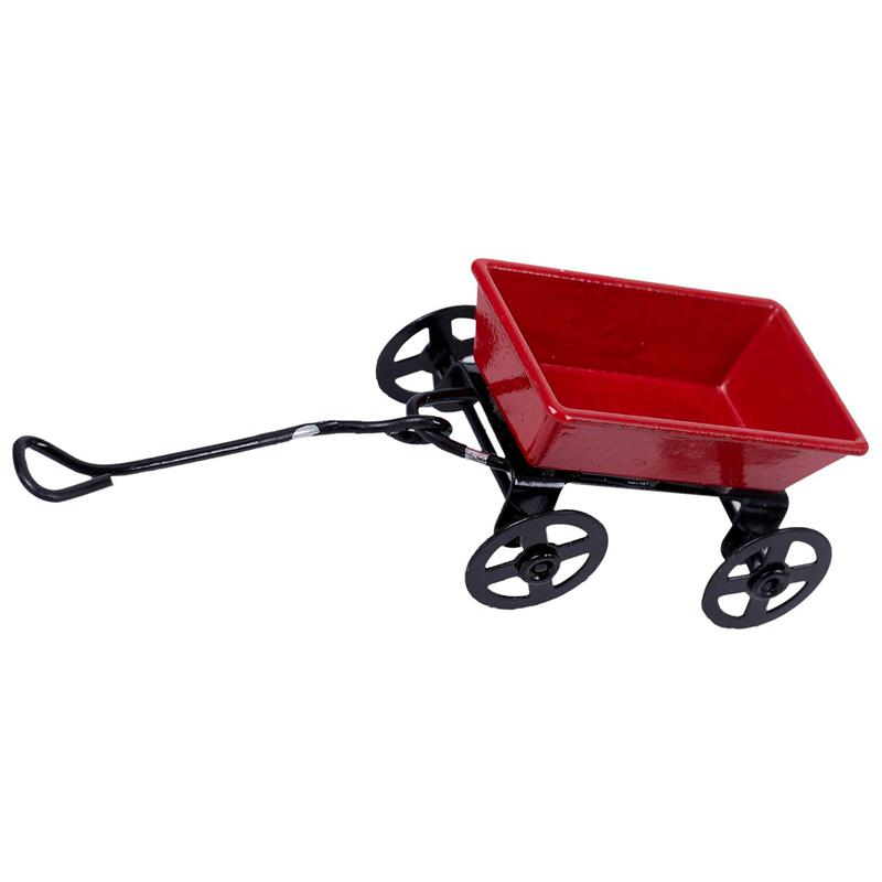 15X-1-12-Dollhouse-Miniature-Fairy-Garden-Car-red-amp-black-E3X6 thumbnail 3