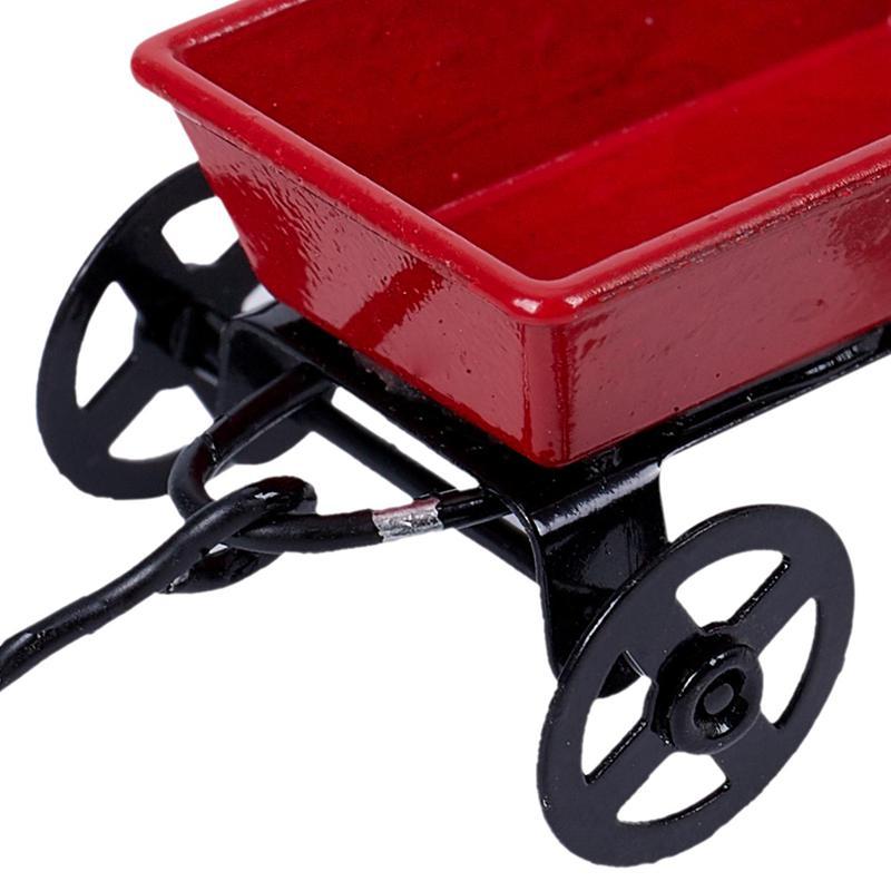 15X-1-12-Dollhouse-Miniature-Fairy-Garden-Car-red-amp-black-E3X6 thumbnail 6