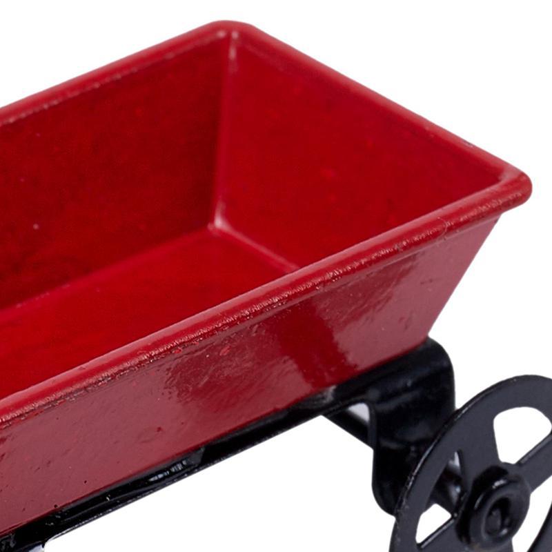 15X-1-12-Dollhouse-Miniature-Fairy-Garden-Car-red-amp-black-E3X6 thumbnail 8