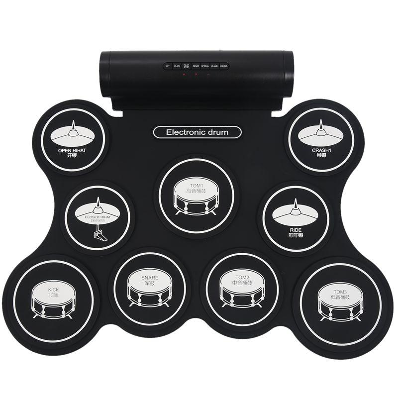 3X(Tambor electronico portatil altavoz incorporado Tambor de cinco tipos fun W4)