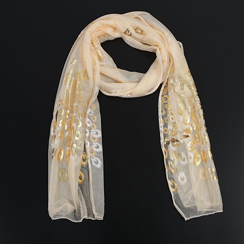 Femmes-Wrap-doux-longue-echarpe-Mesdames-chale-mousseline-de-soie-foulards-Mo-L8 miniature 3