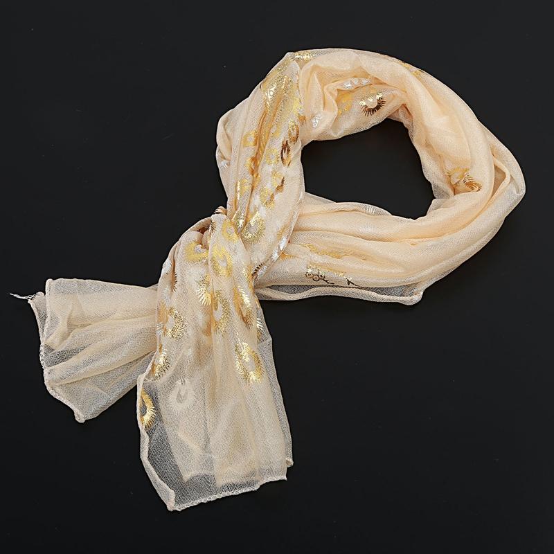 Femmes-Wrap-doux-longue-echarpe-Mesdames-chale-mousseline-de-soie-foulards-Mo-L8 miniature 4