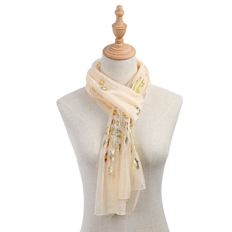 Femmes-Wrap-doux-longue-echarpe-Mesdames-chale-mousseline-de-soie-foulards-Mo-L8 miniature 8