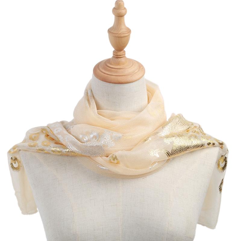 Femmes-Wrap-doux-longue-echarpe-Mesdames-chale-mousseline-de-soie-foulards-Mo-L8 miniature 9