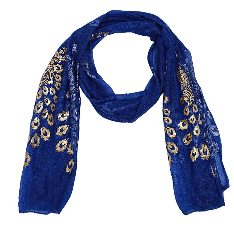 Femmes-Wrap-doux-longue-echarpe-Mesdames-chale-mousseline-de-soie-foulards-Mo-L8 miniature 13