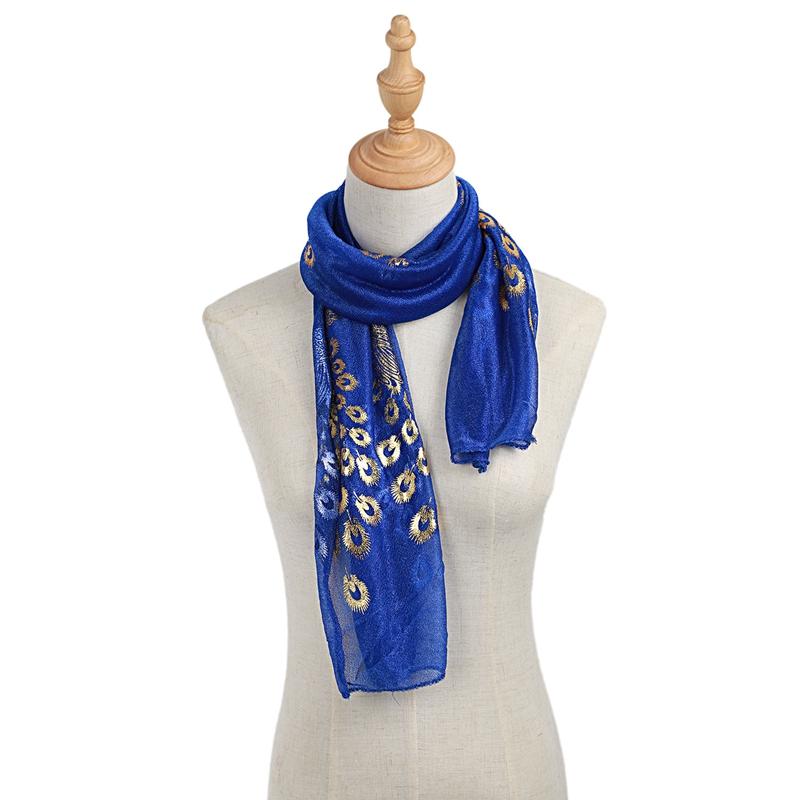 Femmes-Wrap-doux-longue-echarpe-Mesdames-chale-mousseline-de-soie-foulards-Mo-L8 miniature 17