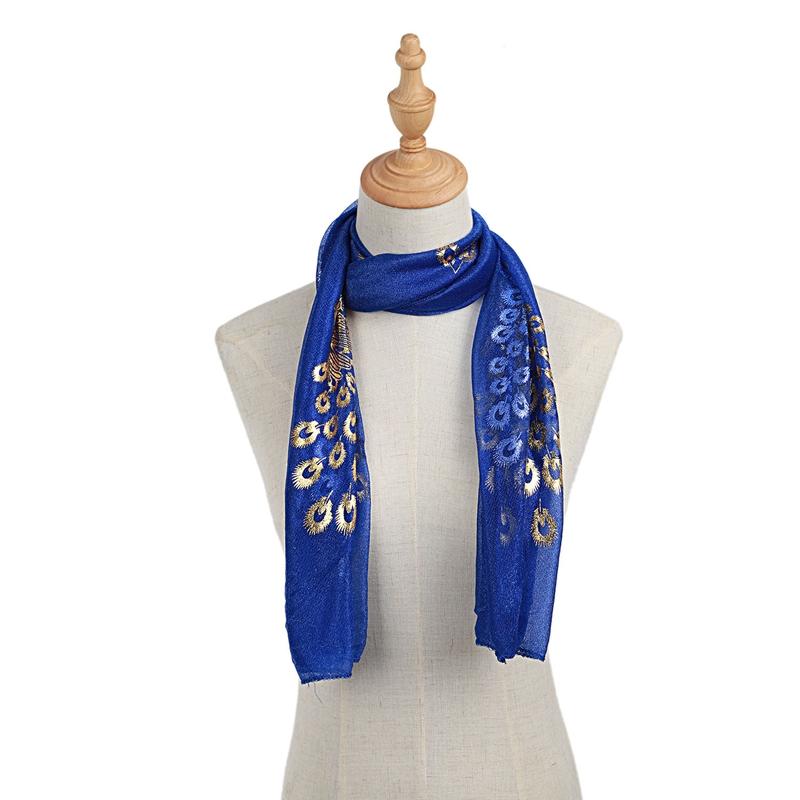 Femmes-Wrap-doux-longue-echarpe-Mesdames-chale-mousseline-de-soie-foulards-Mo-L8 miniature 18