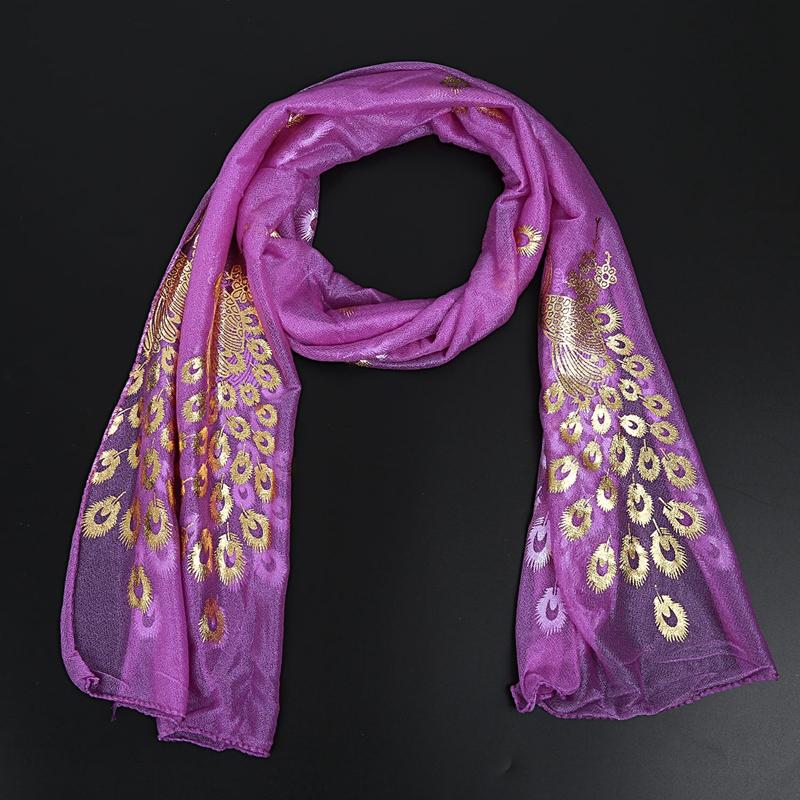 Femmes-Wrap-doux-longue-echarpe-Mesdames-chale-mousseline-de-soie-foulards-Mo-L8 miniature 29
