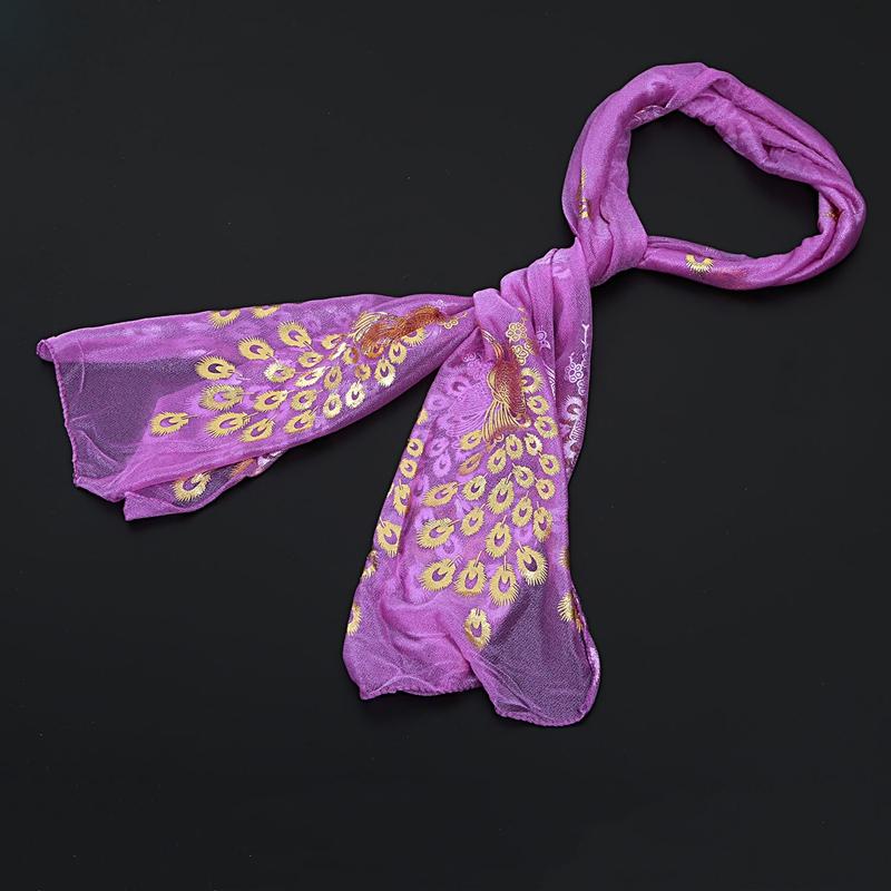 Femmes-Wrap-doux-longue-echarpe-Mesdames-chale-mousseline-de-soie-foulards-Mo-L8 miniature 30