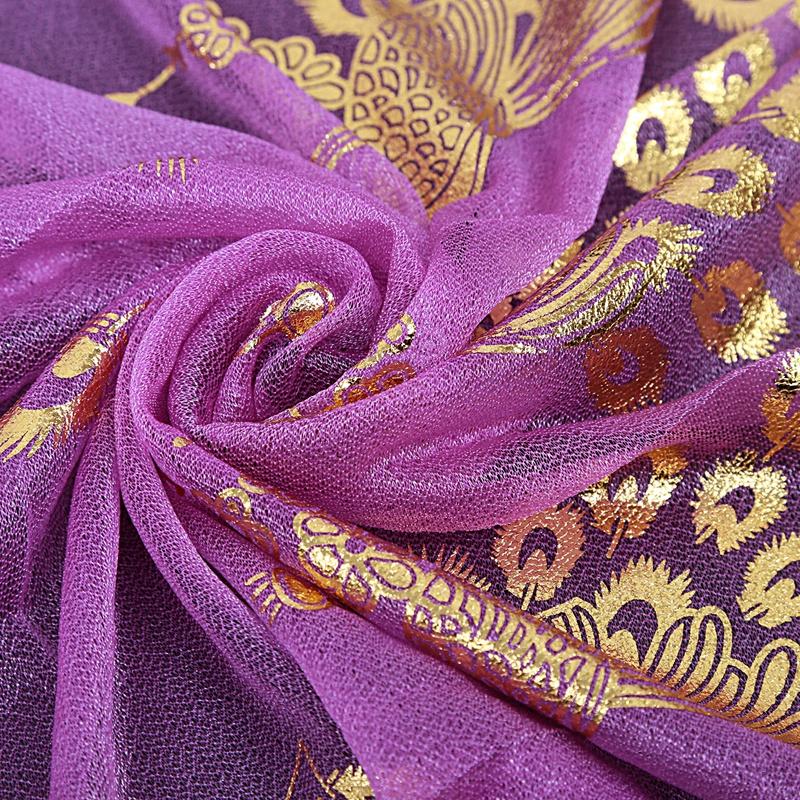 Femmes-Wrap-doux-longue-echarpe-Mesdames-chale-mousseline-de-soie-foulards-Mo-L8 miniature 32