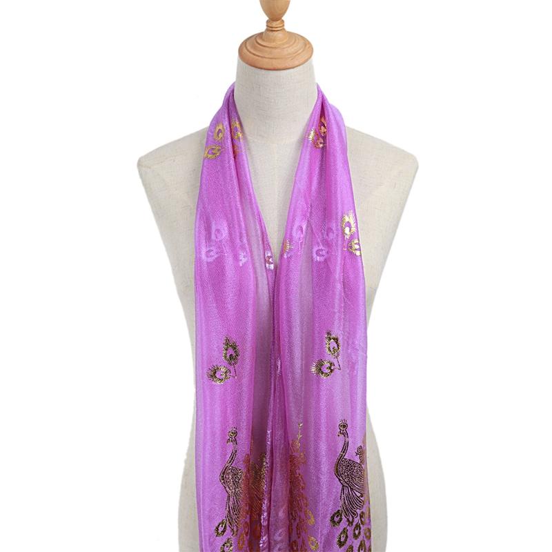 Femmes-Wrap-doux-longue-echarpe-Mesdames-chale-mousseline-de-soie-foulards-Mo-L8 miniature 33