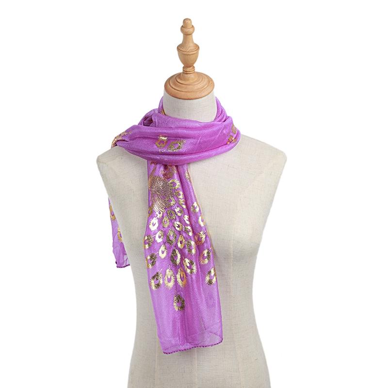 Femmes-Wrap-doux-longue-echarpe-Mesdames-chale-mousseline-de-soie-foulards-Mo-L8 miniature 34