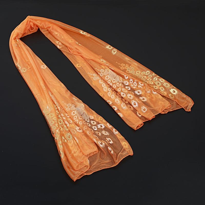 Femmes-Wrap-doux-longue-echarpe-Mesdames-chale-mousseline-de-soie-foulards-Mo-L8 miniature 37