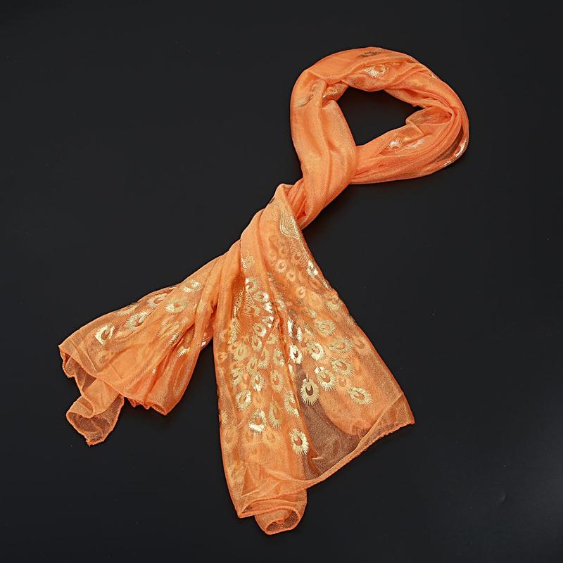Femmes-Wrap-doux-longue-echarpe-Mesdames-chale-mousseline-de-soie-foulards-Mo-L8 miniature 38