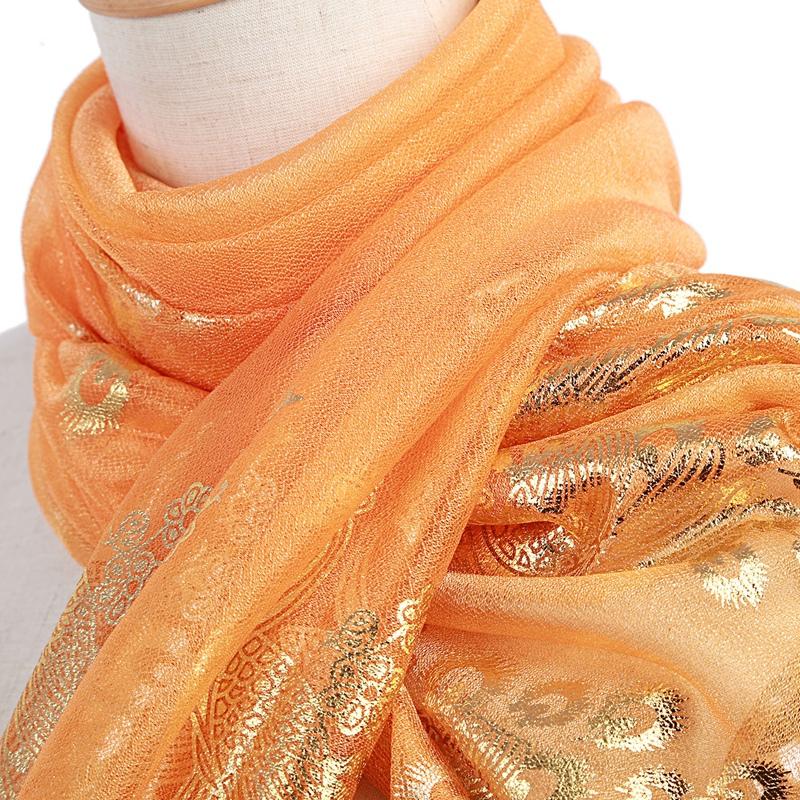 Femmes-Wrap-doux-longue-echarpe-Mesdames-chale-mousseline-de-soie-foulards-Mo-L8 miniature 41