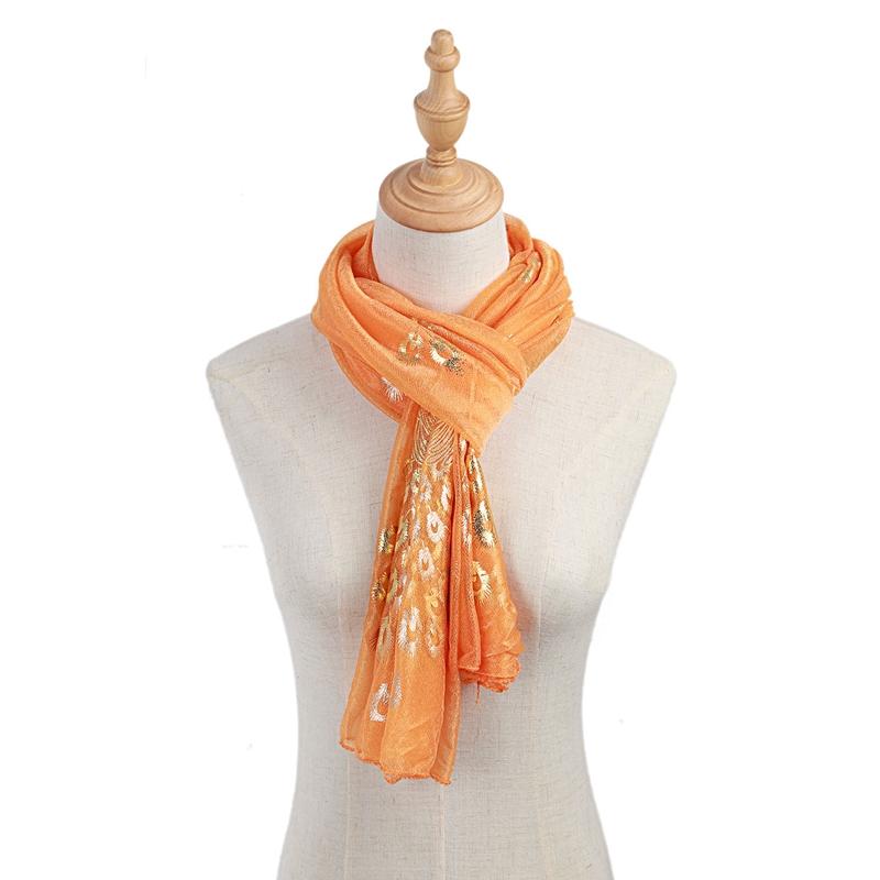 Femmes-Wrap-doux-longue-echarpe-Mesdames-chale-mousseline-de-soie-foulards-Mo-L8 miniature 42
