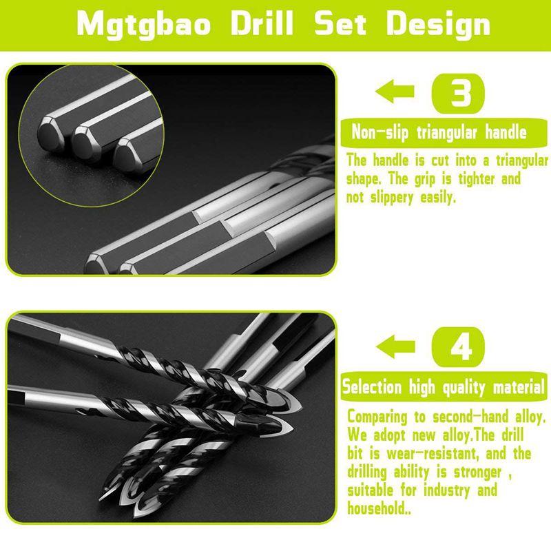 6pcs Ceramic Tile Drill Bits Masonry Drill Bits Set For