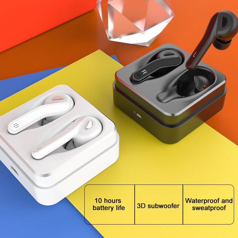 1X-Ipx5-Etanche-Bluetooth-Casque-A-Ecouteurs-V5-0-Tws-Ecouteurs-Sans-Fil-Su-Q2M3 miniature 3