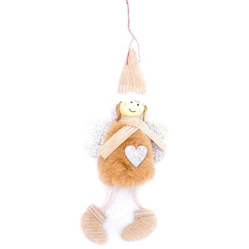 Ange-Mignon-En-Peluche-Poupee-De-Decoration-De-Noel-Pendentif-Creative-Orne-Y1O8 miniature 3