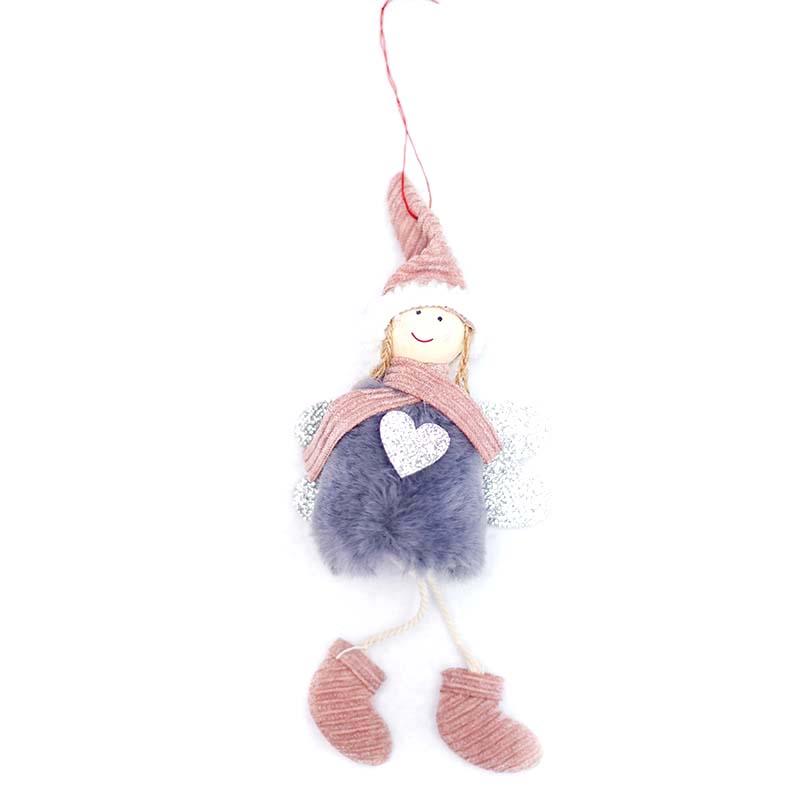 Ange-Mignon-En-Peluche-Poupee-De-Decoration-De-Noel-Pendentif-Creative-Orne-Y1O8 miniature 5