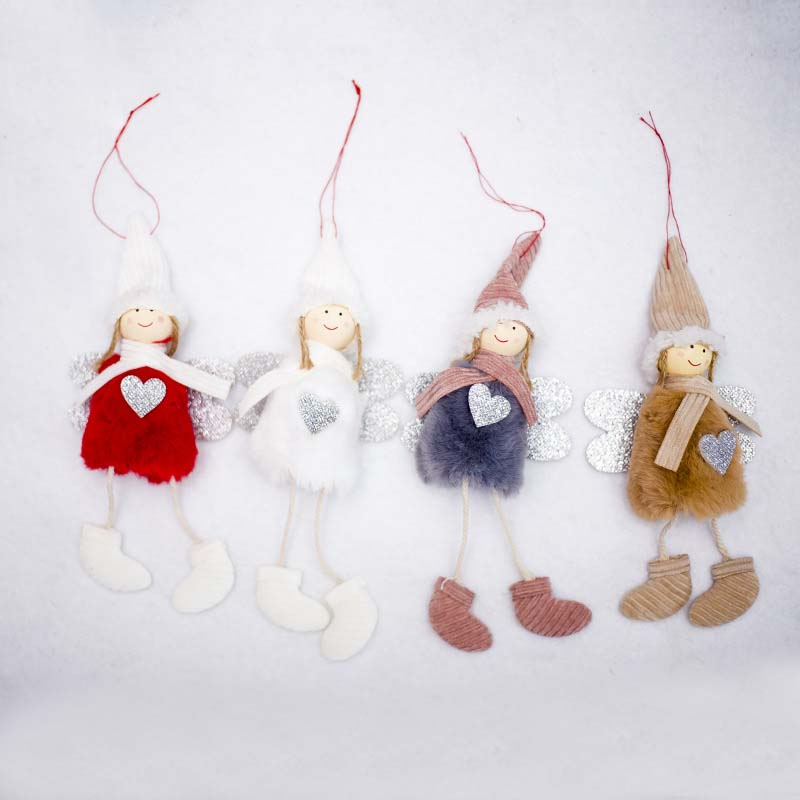 Ange-Mignon-En-Peluche-Poupee-De-Decoration-De-Noel-Pendentif-Creative-Orne-Y1O8 miniature 13