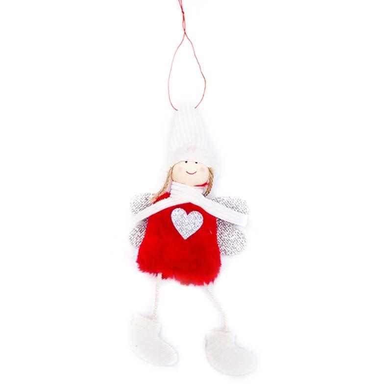 Ange-Mignon-En-Peluche-Poupee-De-Decoration-De-Noel-Pendentif-Creative-Orne-Y1O8 miniature 18