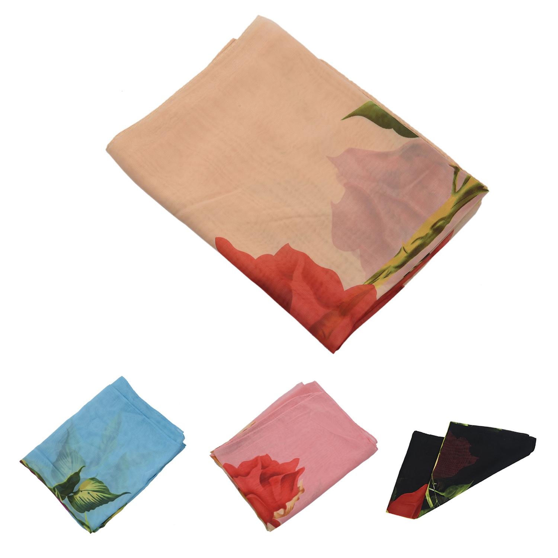 Foulards de femmes Echarpe douce longue de mode de rose pour femme ... 004f4e93427