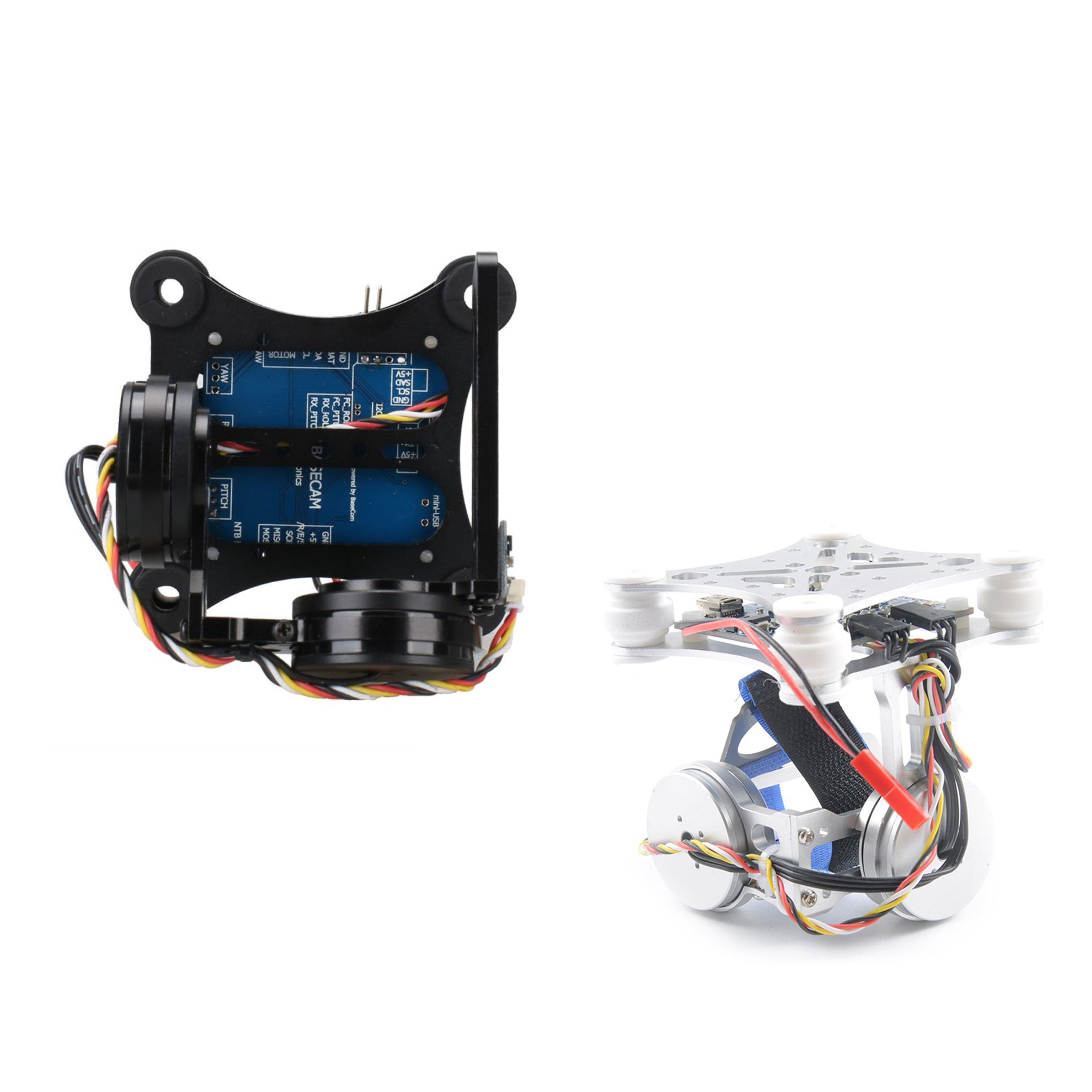 2X(2 Axis 2D Brushless telecamera  Gimbal for Gopro SJCAM XIAOMI YI azione Came Y9F1)  ecco l'ultimo
