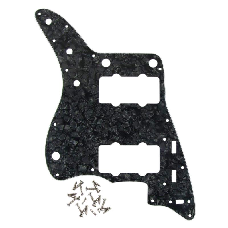 Perle-Noire-Pickguard-De-Guitare-4-Plis-Plaque-A-Gratter-Pour-Americains-Ai-F6W9 miniature 4