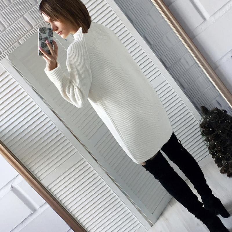 Femme-Mode-Automne-Hiver-O-Cou-A-Manches-Longues-Chaud-Robe-De-Chandail-En-Q1I3 miniature 6