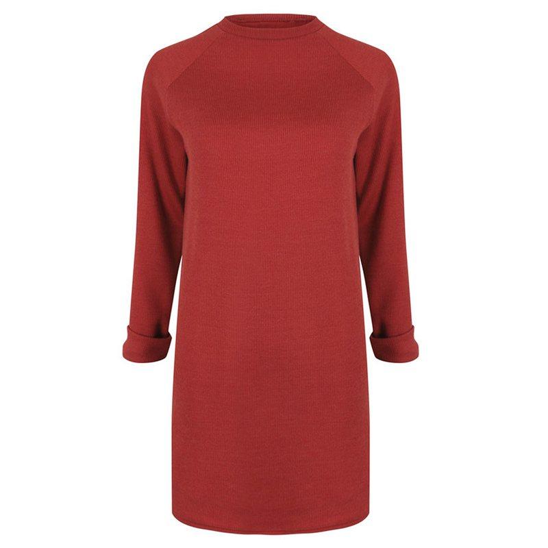 Femme-Mode-Automne-Hiver-O-Cou-A-Manches-Longues-Chaud-Robe-De-Chandail-En-Q1I3 miniature 10