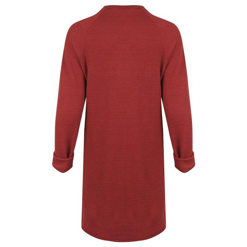 Femme-Mode-Automne-Hiver-O-Cou-A-Manches-Longues-Chaud-Robe-De-Chandail-En-Q1I3 miniature 11