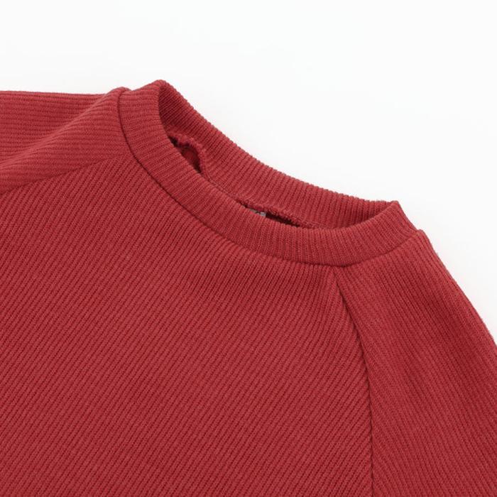 Femme-Mode-Automne-Hiver-O-Cou-A-Manches-Longues-Chaud-Robe-De-Chandail-En-Q1I3 miniature 15
