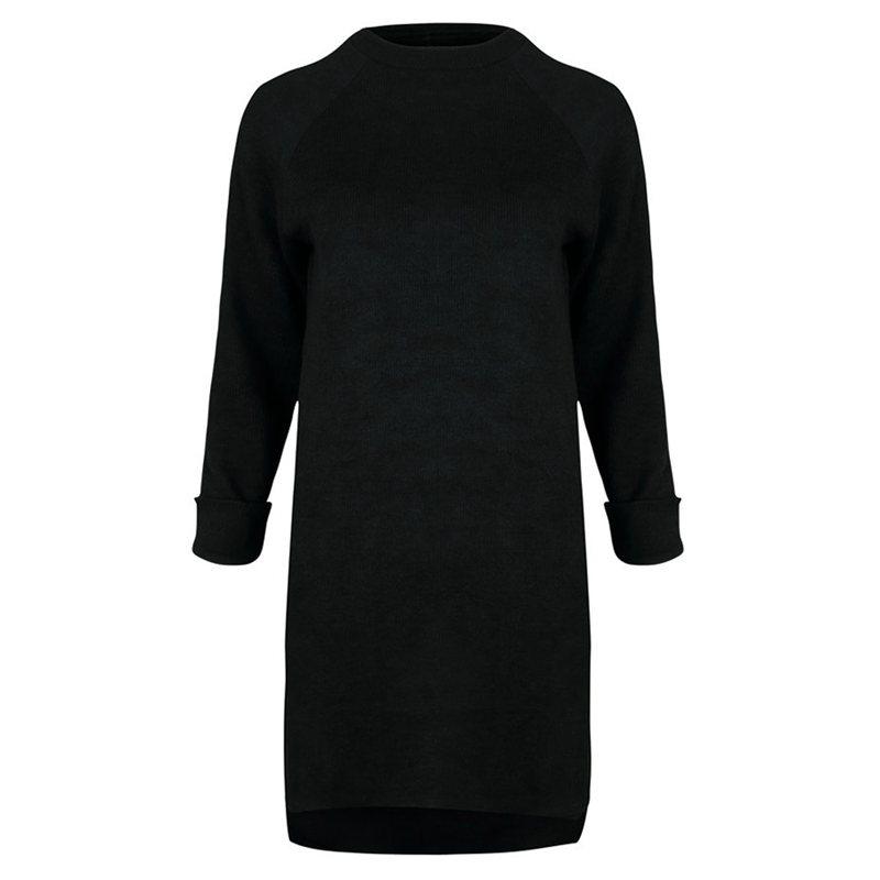 Femme-Mode-Automne-Hiver-O-Cou-A-Manches-Longues-Chaud-Robe-De-Chandail-En-Q1I3 miniature 20