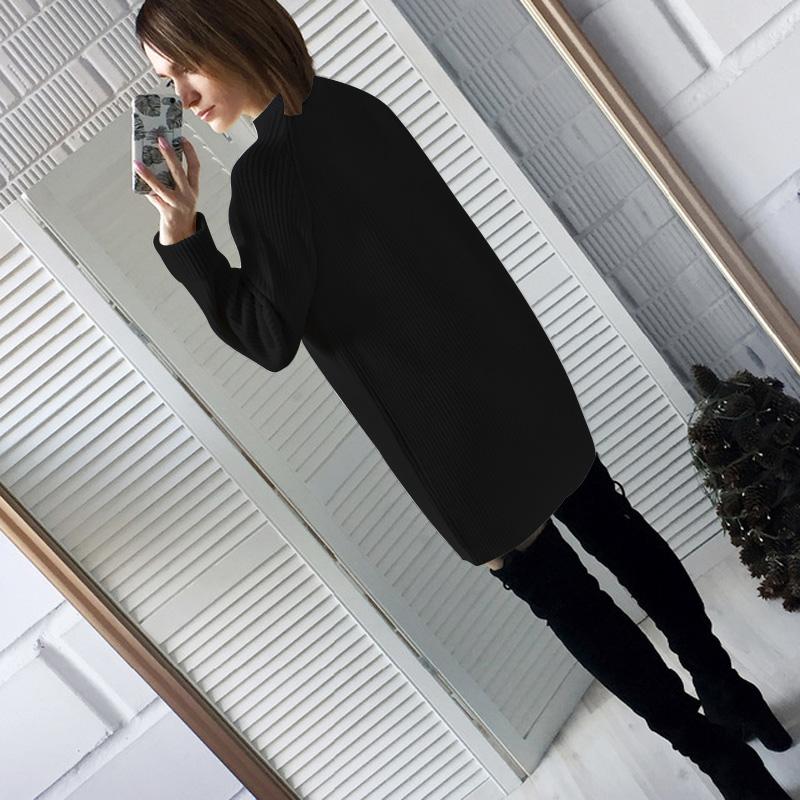 Femme-Mode-Automne-Hiver-O-Cou-A-Manches-Longues-Chaud-Robe-De-Chandail-En-Q1I3 miniature 23