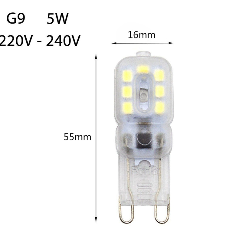 10-X-G9-5W-LED-Dimmable-Capsule-Bulb-Replace-Light-Lamps-AC220-240V-Z7W8 thumbnail 12