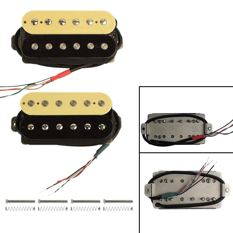 Details about Electric Guitar Humbucker Pickups Alnico V Pickup (Zebra +  black) Y2H3