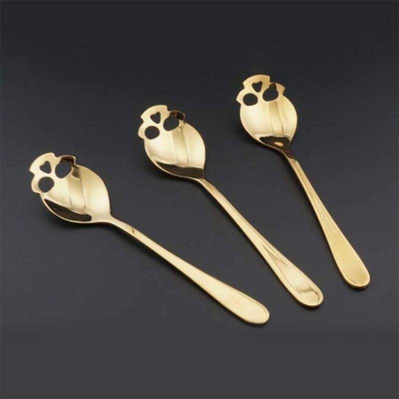 304-Stainless-Steel-Skull-Sugar-Spoons-Handle-Mixing-Spoons-Cream-Ice-Tea-C-X4J2 thumbnail 6