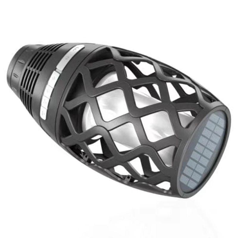 2X(3W Multi Funktional Sonnenenergie Wiederaufladbare Led Blautooth Lautspr O1E5