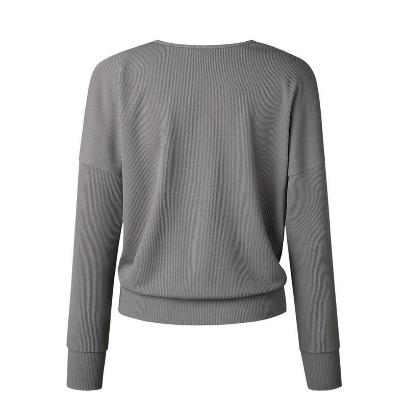 1X-Femme-Mode-Col-En-V-a-Manches-Longues-Chandail-En-Tricot-Dames-Decontrac-G2O7 miniature 4