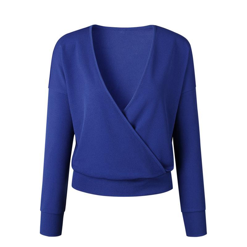 1X-Femme-Mode-Col-En-V-a-Manches-Longues-Chandail-En-Tricot-Dames-Decontrac-G2O7 miniature 10
