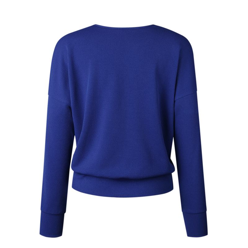 1X-Femme-Mode-Col-En-V-a-Manches-Longues-Chandail-En-Tricot-Dames-Decontrac-G2O7 miniature 11