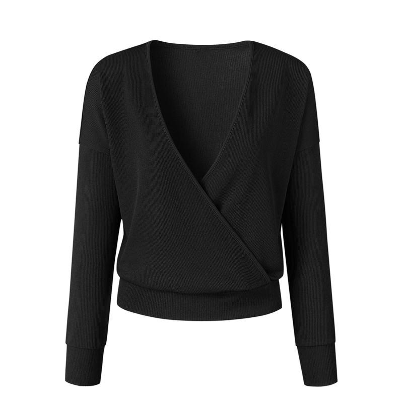 1X-Femme-Mode-Col-En-V-a-Manches-Longues-Chandail-En-Tricot-Dames-Decontrac-G2O7 miniature 17