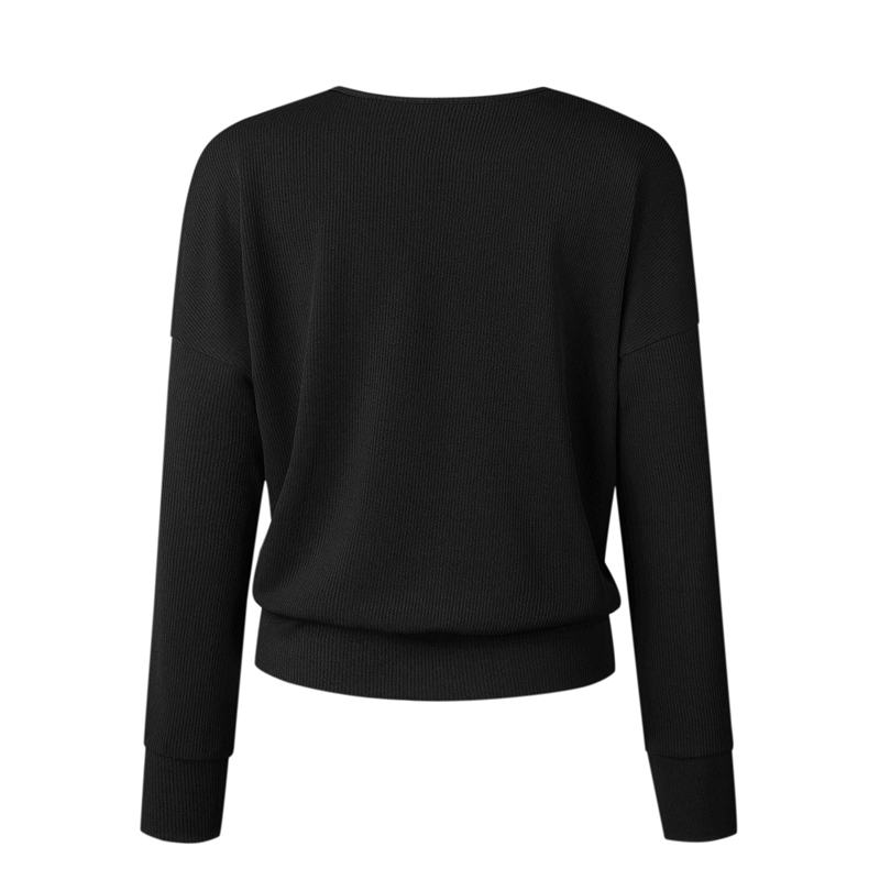 1X-Femme-Mode-Col-En-V-a-Manches-Longues-Chandail-En-Tricot-Dames-Decontrac-G2O7 miniature 18