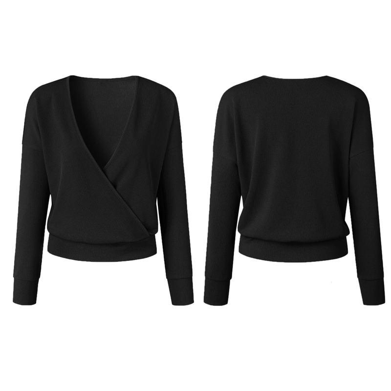 1X-Femme-Mode-Col-En-V-a-Manches-Longues-Chandail-En-Tricot-Dames-Decontrac-G2O7 miniature 19