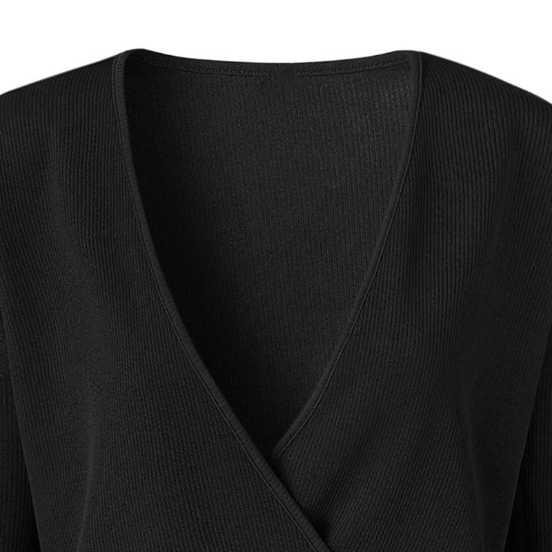 1X-Femme-Mode-Col-En-V-a-Manches-Longues-Chandail-En-Tricot-Dames-Decontrac-G2O7 miniature 20