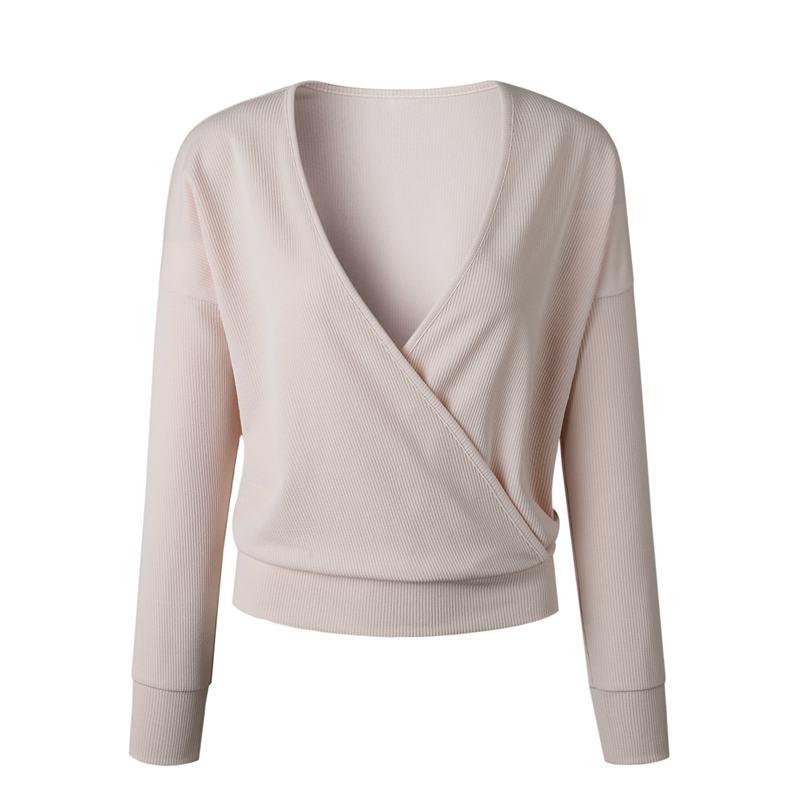 1X-Femme-Mode-Col-En-V-a-Manches-Longues-Chandail-En-Tricot-Dames-Decontrac-G2O7 miniature 24